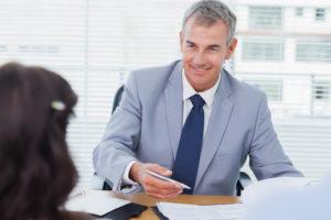 engaging man at desk
